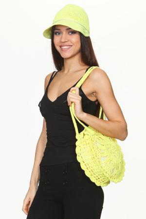 Шляпа и сумка Tonak. Цвет: желтый