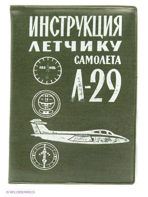 Обложка на автодокументы Инструкция летчику Kawaii Factory. Цвет: зеленый