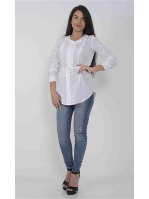Блузка FOR YOU. Цвет: белый