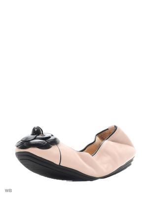 Балетки Dino Ricci. Цвет: черный, розовый