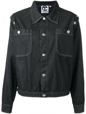 Джинсовая куртка Telfar. Цвет: чёрный