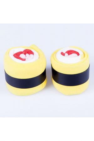Носки Maki Omelette DOIY. Цвет: желтый, красный, белый