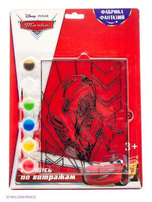 Набор для росписи витража  Тачки : Маквин Фабрика Фантазий. Цвет: красный
