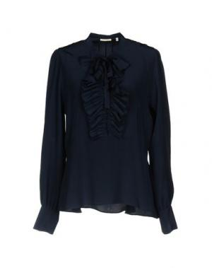 Блузка TRUE ROYAL. Цвет: темно-синий