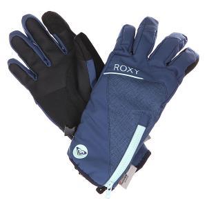 Перчатки сноубордические женские  Tahoe Gloves Ensign Blue Roxy. Цвет: синий