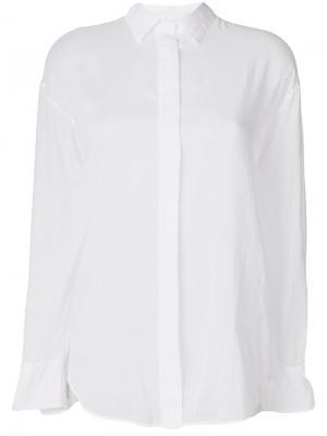 Рубашка с потайной застежкой Forte. Цвет: белый