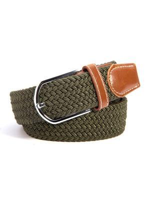 Ремень плетеный без дырочек Churchill accessories. Цвет: зеленый, хаки, коричневый