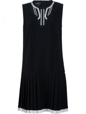 Платье Mini Pleat Yigal Azrouel. Цвет: чёрный