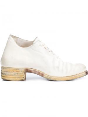 Туфли со шнуровкой A Diciannoveventitre. Цвет: белый
