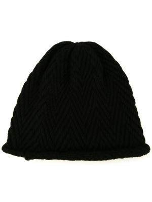 Трикотажная шапка Soe. Цвет: чёрный