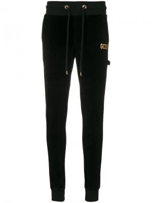 Классические трикотажные брюки Gcds. Цвет: чёрный