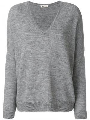 V-neck jumper Masscob. Цвет: серый