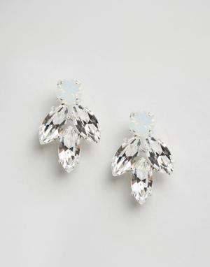Krystal Серьги с кристаллами Swarovski. Цвет: прозрачный