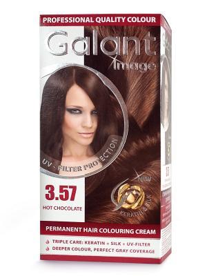 Cтойкая крем-краска для волос  GALANT 3.57 горячий шоколад, 115 мл., (Болгария) Image. Цвет: кремовый