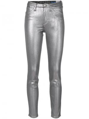 Брюки металлик Ck Jeans. Цвет: металлический