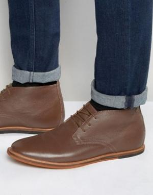 Frank Wright Кожаные коричневые ботинки чукка Strachan. Цвет: коричневый