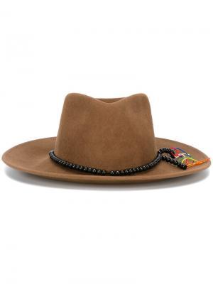 Шляпа с широкими полями Sensi Studio. Цвет: коричневый
