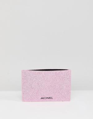 Monki Кредитница с блестками. Цвет: розовый