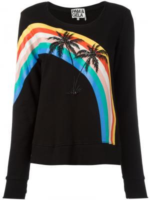 Толстовка Palm Trees Pam & Gela. Цвет: чёрный