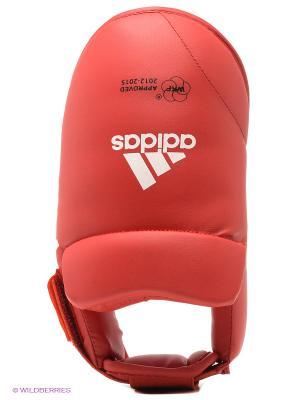 Защита стопы WKF Foot Protector Adidas. Цвет: красный