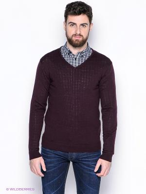 Пуловер SELECTED. Цвет: бордовый