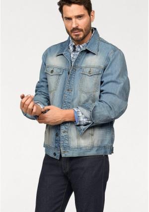 Джинсовая куртка Arizona. Цвет: синий потертый