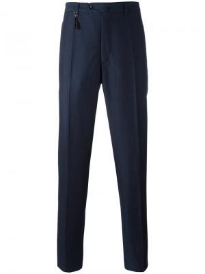 Прямые брюки Incotex. Цвет: синий