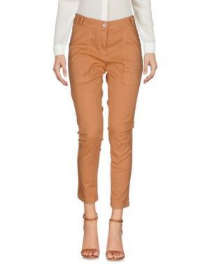 Повседневные брюки AMY GEE. Цвет: коричневый