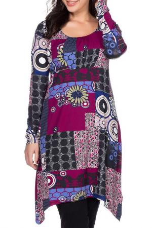 Платье SHEEGO. Цвет: мультицвет