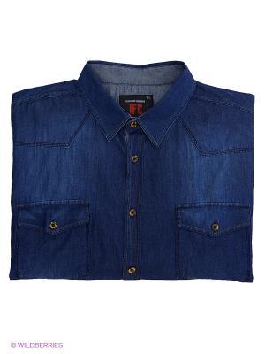 Рубашка IFC. Цвет: темно-синий
