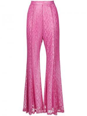 Foiled lace flared pants G.V.G.V.. Цвет: розовый и фиолетовый