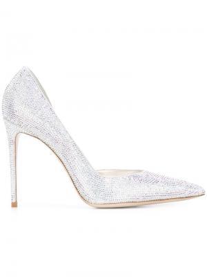 Туфли с заостренным носком Le Silla. Цвет: серый