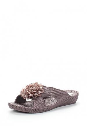 Шлепанцы Ella. Цвет: коричневый