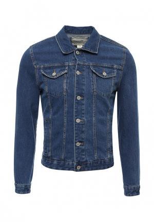 Куртка джинсовая oodji. Цвет: синий