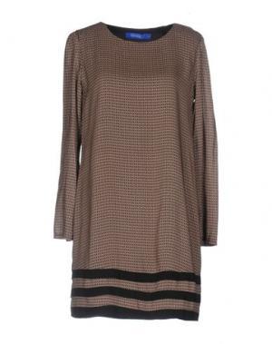 Короткое платье ANONYME DESIGNERS. Цвет: песочный