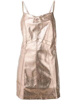 Luna mini dress For Love And Lemons. Цвет: металлический