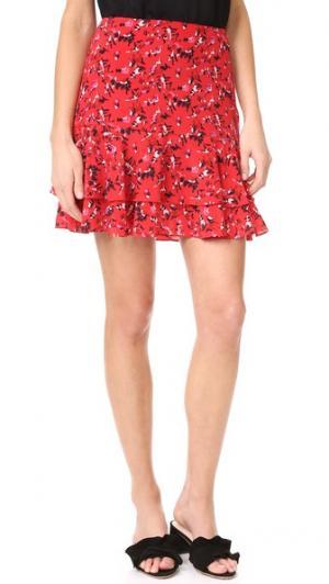 Мини-юбка с принтом Grey Jason Wu. Цвет: кадмиевый красный