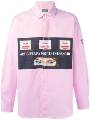 Рубашка Policy C.E.. Цвет: розовый и фиолетовый