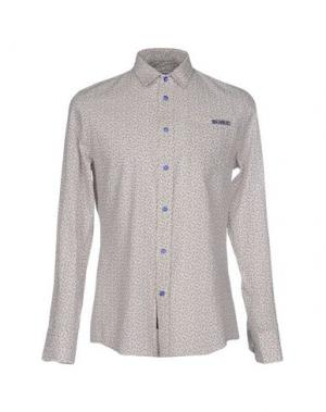 Pубашка BIKKEMBERGS. Цвет: бежевый