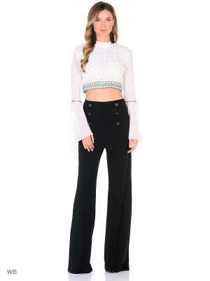 Комплект: блузка, брюки X'Zotic. Цвет: черный, молочный