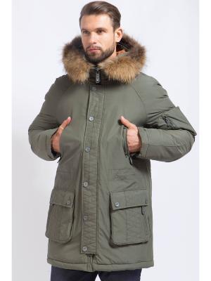 Пальто Finn Flare. Цвет: темно-зеленый
