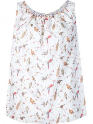 Блузка с принтом Dosa. Цвет: белый