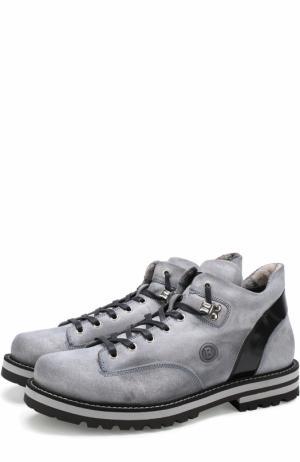 Кожаные ботинки на шнуровке Bogner. Цвет: голубой