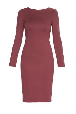 Трикотажное платье из вискозы BR-184254 Burlo. Цвет: коричневый