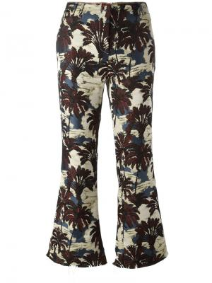 Укороченные брюки Philosophy Di Lorenzo Serafini. Цвет: многоцветный