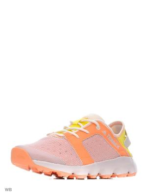 Кроссовки TERREX CC VOYAGER S EASORA/ICEPUR/BYELLO Adidas. Цвет: розовый, белый, оранжевый