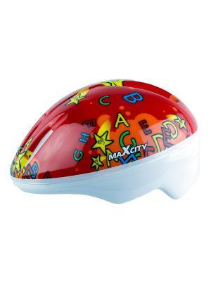 Роликовый шлем BABYALPHABET MAXCITY. Цвет: красный