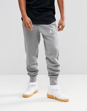 Jordan Серые джоггеры из флиса Nike Flight 823071-091. Цвет: серый