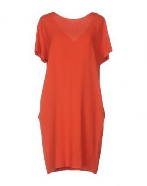 Платье до колена ANTONELLI. Цвет: ржаво-коричневый