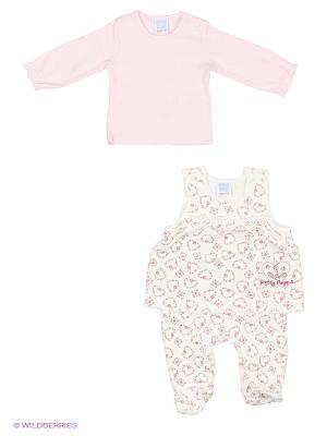 Комплект Cutie Bear. Цвет: белый, розовый